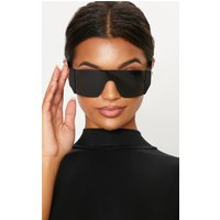 Black Flat Top Statement Sunglasses