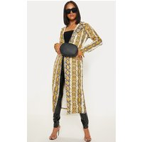 Yellow Longline Snake Duster Jacket