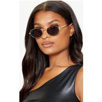 Black Oval Retro Style Sunglasses