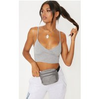 Prettylittlething Grey Mesh Bum Bag