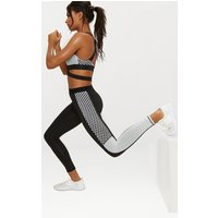 Black Contrast Sports Leggings