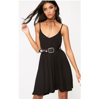 Black Strappy Swing Dress