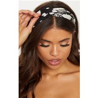 Black Snake And Spotted Twisted Headband