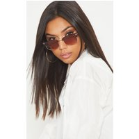 Brown Classic Retro Sunglasses, Brown