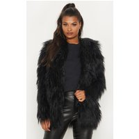 Amaria Black Shaggy Faux Fur Jacket