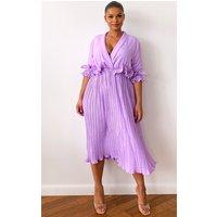 Plus Lilac Frill Detail Midaxi Dress, Purple cashback