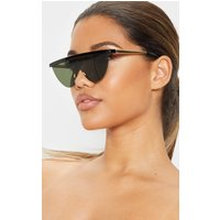 Black Flat Top Frameless Sunglasses