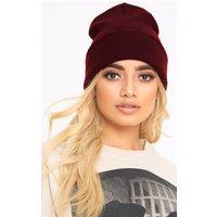 Burgundy Beanie Hat, Burgundy