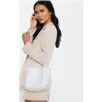 Iridescent Beaded Box Bag
