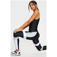 Black Mono Panel Gym Leggings