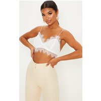 Amelie White Tie Back Lace Bralet