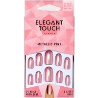 Elegant Touch Metallic Pink Nails