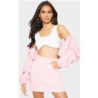Acid Pink Denim Skirt