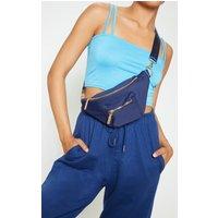 Navy Square Pocket Classic Bum Bag