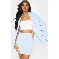 Baby Blue Mini Suit Skirt