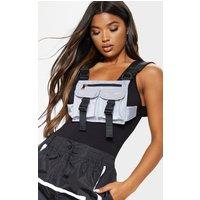 Grey Nylon Double Pocket Front Harness Bag