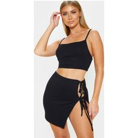 Black Straight Neck Cami Top