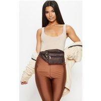 Brown Front Pocket Bum Bag