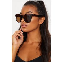 Quay Australia Brown After Hours Oversized Sunglasses, Brown