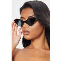 Black Frame Gold Metal Edge Pointed Cat Eye Sunglasses