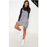 Petite White Dalmatian Print Swing Dress