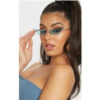 Blue Lens Brow Bar Cat Eye Sunglasses