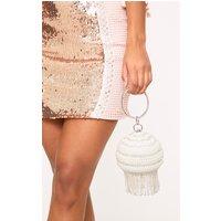 Pearl Embellished Spherical Bag