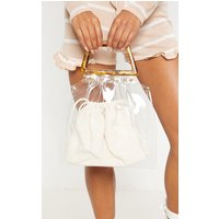Clear Tortoiseshell Handle Bag