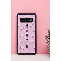 PRETTYLITTLETHING Unicorn Pink Samsung S10 Phone Case, Pink