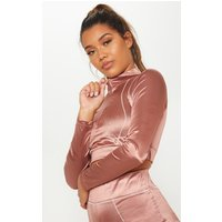 Copper Contrast Stitch Long Sleeve Gym Top