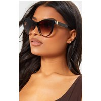 Black Oversized Cat Eye Tortoiseshell Sunglasses