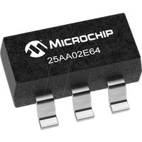 25AA02E64T-I/OT - EEPROM, 2 Kb (256 x 8), 1,8 ... 5,5 V, SOT-23-5