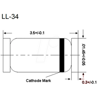 RND BZV55C18 - Zenerdiode, 20 V, 0,5 W, MiniMelf Glas