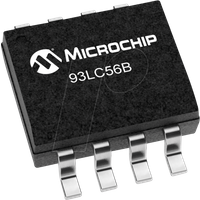 93LC56B-I/SN - EEPROM, 2 Kb (128 x 16), Seriell Microwire, 2,5 ... 5,5 V, SO-8