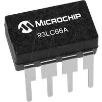93LC66A-I/P - EEPROM, 4 Kb (512 x 8), Seriell Microwire, 2,5 ... 5,5 V, PDIP-8