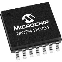 MCP 41HV31-10K - Digitalpotentiometer, 1-Kanal, 127 Schritte, 10 kOhm, SPI, TSSOP