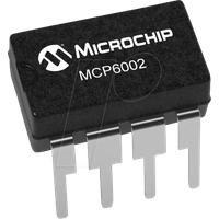 MCP 6002-I/P - Operationsverstärker, 2-fach, 1 MHz, 0.6 V/µs, 1.8 V ... 6 V, DI