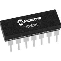 MCP 6004-I/P - Operationsverstärker, 4-fach, 1 MHz, 0.6 V/µs, 1.8 V ... 6 V, DI