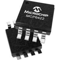 MCP 6422-E/MS - Operationsverstärker, 2-fach, 0.05 V/µs, 90 kHz, MSOP-8