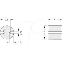 FIS MAH 301 - Abstandshalter für 3 mm LEDs, Ø 3,8 x 1,0 mm, PVC, schwarz
