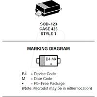 MBR 0540T1G ONS - Schottky-Gleichrichterdiode, 40 V, 0,5 A, SOD-123