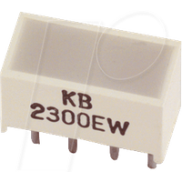 FW-LED 5X10 RT - Flächen-LED, 25 mcd, 5x10 mm, rot