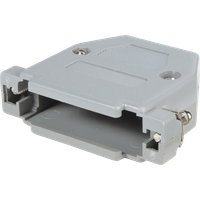 KAPPE CG15G - D-SUB-Kappe für 15-polig D-Sub, Kunststoff