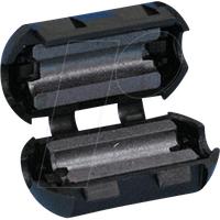 RND 165-00004 - Klappferrit für Rundkabel, Ø bis 5,2 mm, rund
