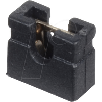 MPE 149-3-002-F0 - Jumper 2,54 mm, geöffnet, kurz, schwarz