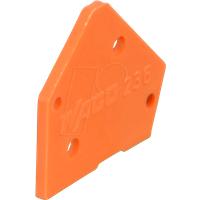 WAGO 236-600 - Abschlussplatte orange