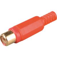 CKPG RT - Cinchkupplung, Farbcodierung rot, 6-kant, Kontakte vergoldet