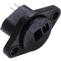 LB2PS - Lautsprecher-Einbaubuchse, gerade, 2-pol, schwarz