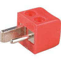 LSMW RT - Lautsprecherstecker, gewinkelt, rot