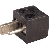 LSMW SW - Lautsprecherstecker, gewinkelt, schwarz